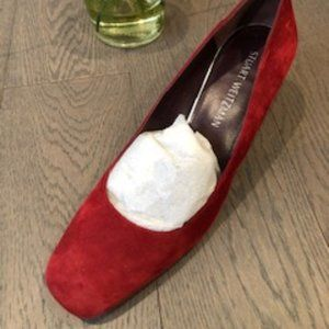 Stuart Weitzman Suede Leather Shoes Red Size 9